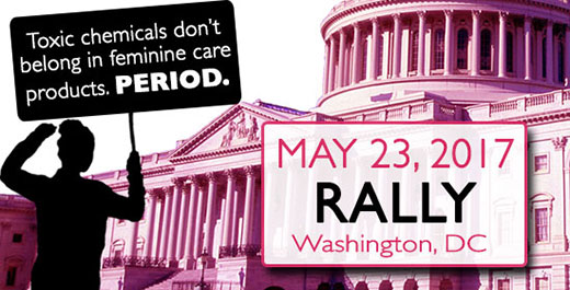 Rally for safe feminine care products in DC