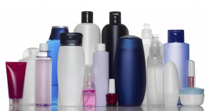 Collection of bottles of health and beauty products