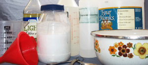 Ingredients for DIY non-toxic cleaning products