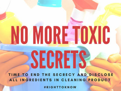 Right to Know What's In our Cleaning Products