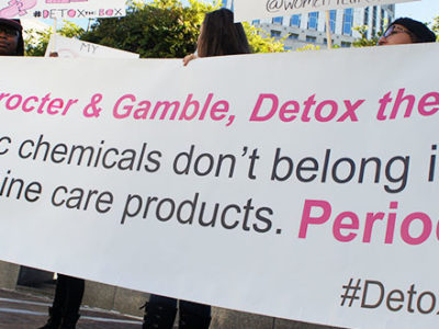 Women's Health Rally at Procter and Gamble's Headquarters