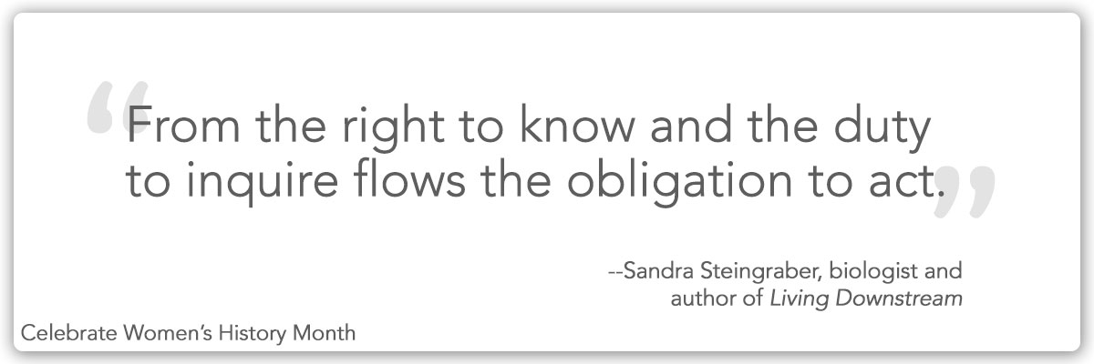 Quote from Sandra Steingraber
