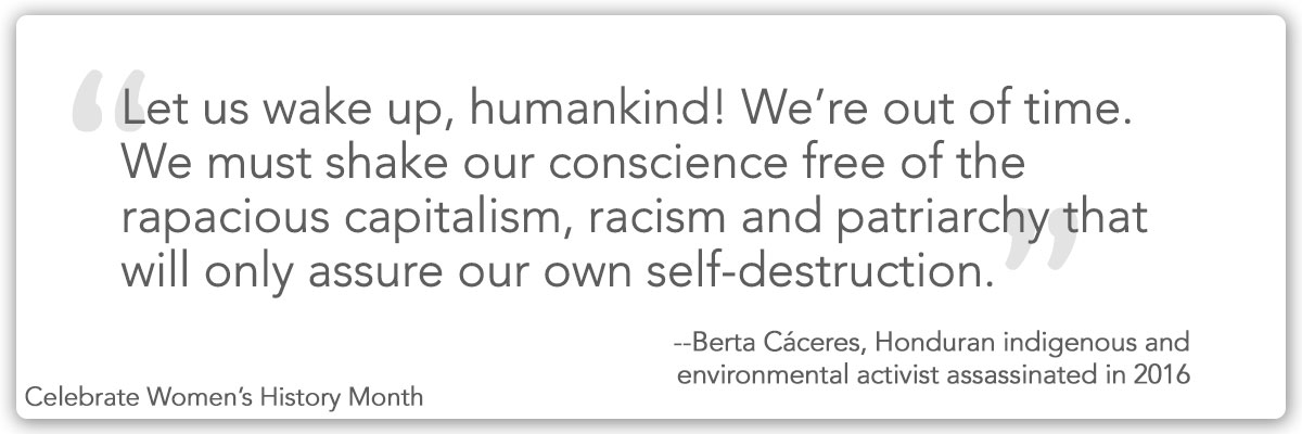 Quote from Berta Cáceres