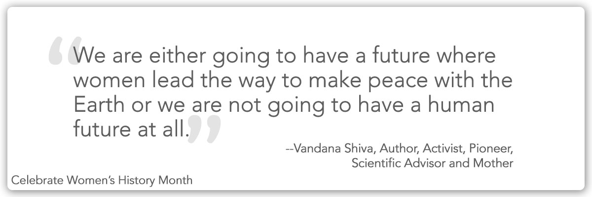 Quote from Vandana Shiva