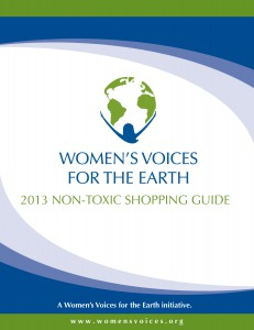 2013 Non-Toxic Shopping Guide cover