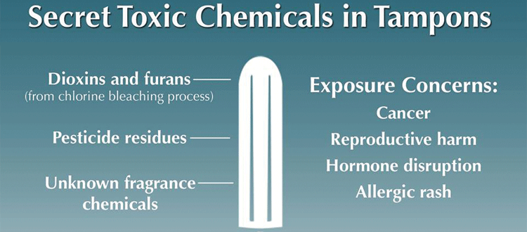 toxic chemicals in tampons