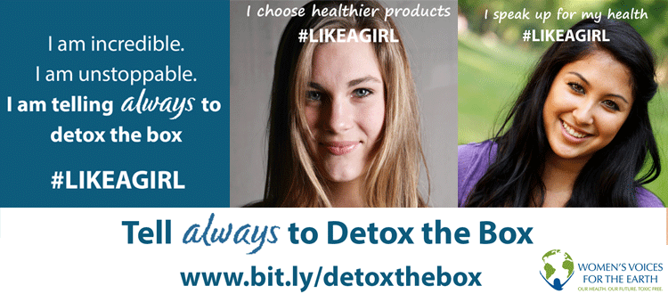 Telling always to detox the box #likeagirl