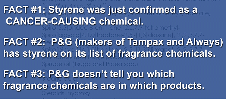 styene lists in P&G fragrance chemicals