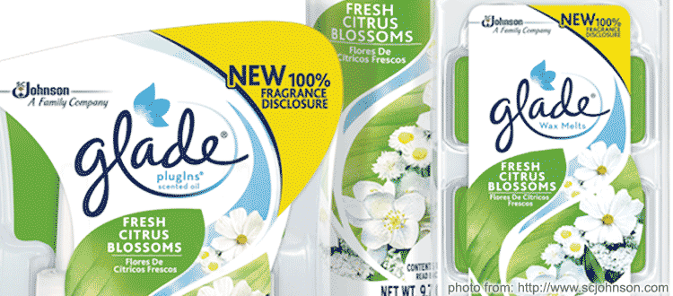 SCJ Glade Full Fragrance Disclosure