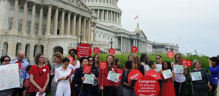 Women rally, lobby day in DC for safe feminine care products