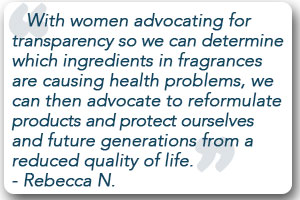 women fighting for ingredient transparency
