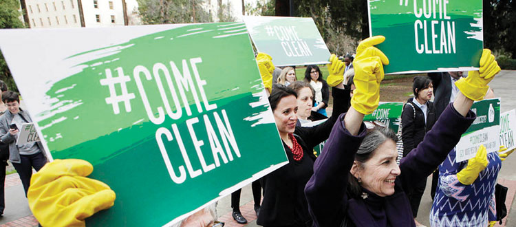 rally for ingredient disclosure in cleaning products
