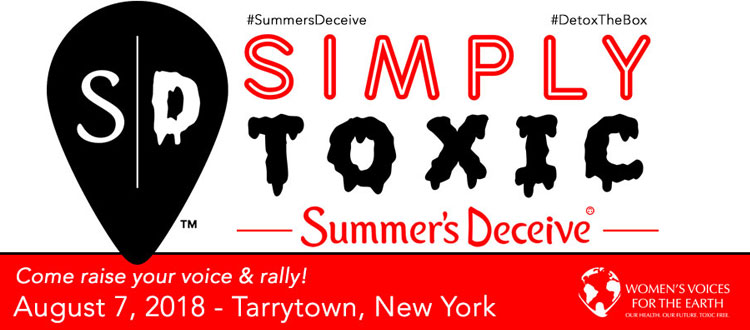 Summer's Deceive Rally to End Toxic Chemicals and Body Shaming