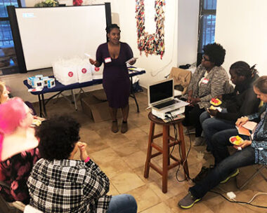 Community workshop on period health in New York