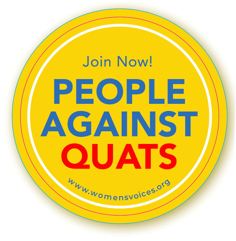 People Against Quats badge